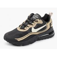 Кроссовки Nike Air Max 270 React черные с золотистым
