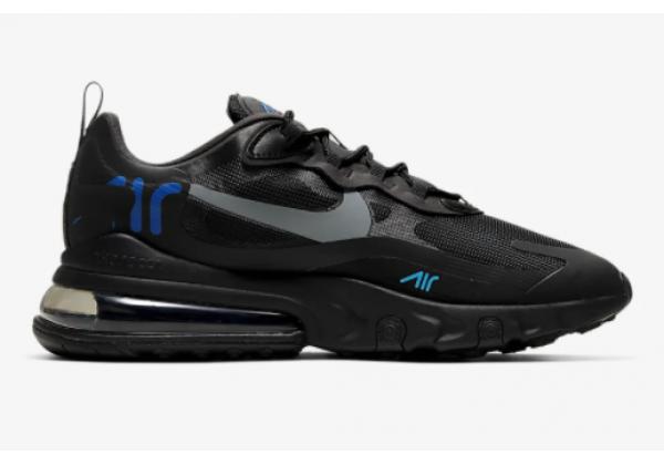 Кроссовки Nike Air Max 270 React черные с синим