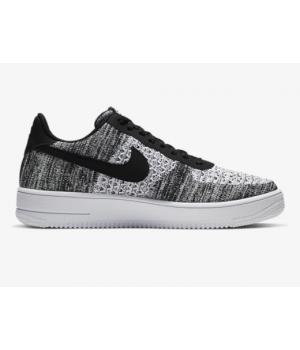 Кроссовки Nike Air Force 1 Flyknit 2.0 черно-белые