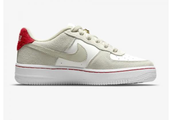Кроссовки Nike Air Force 1 LV8 S50 серо-белые