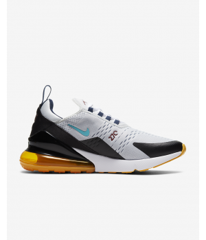 Nike кроссовки Air Max 270 G черно-белые с желтой подошвой
