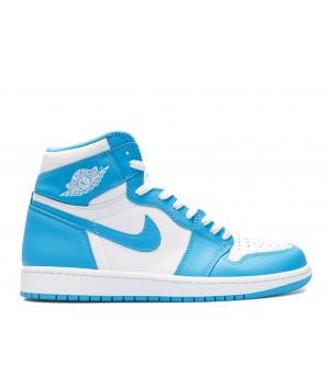 Кроссовки Air Jordan 1 Retro UNC голубые