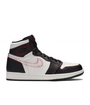Кроссовки Air Jordan 1 High OG Defiant 'Tour Yellow' черно-белые