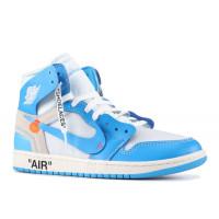 Кроссовки Air Jordan 1 'Powder Blue' (UNC) голубые