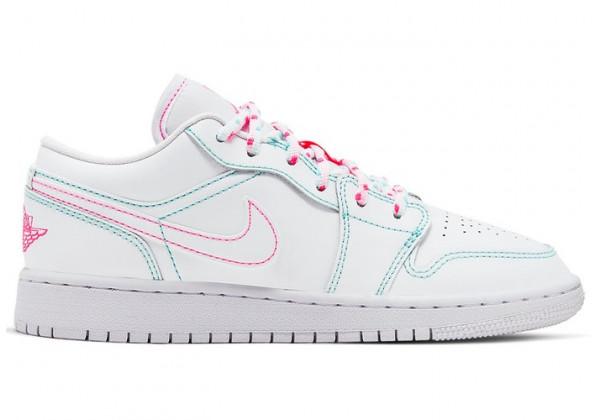 Кроссовки Air Jordan 1 белые