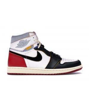 Кроссовки Air Jordan 1 Retro High Union Los Angeles черно-белые с красным