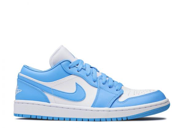 Кроссовки Air Jordan 1 Low UNC голубые