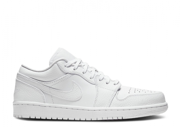 Кроссовки Air Jordan 1 Tumbled Leather белые