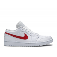 Кроссовки Air Jordan 1 белые с красным