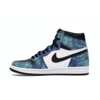 Кроссовки Air Jordan 1 Retro High 'Tie Dye' голубые