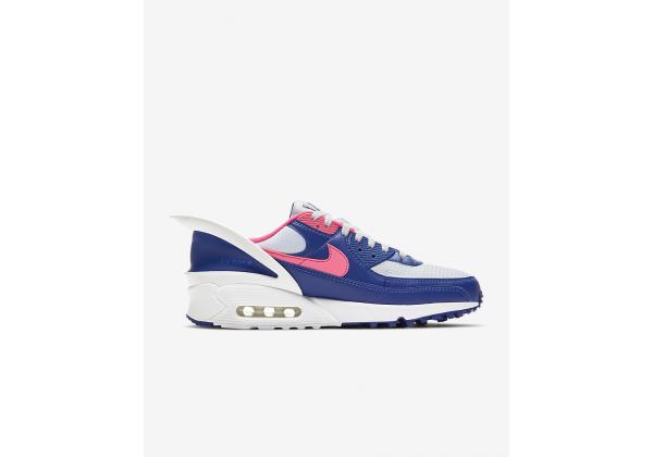 Nike Air Max 90 FlyEase синие с белым