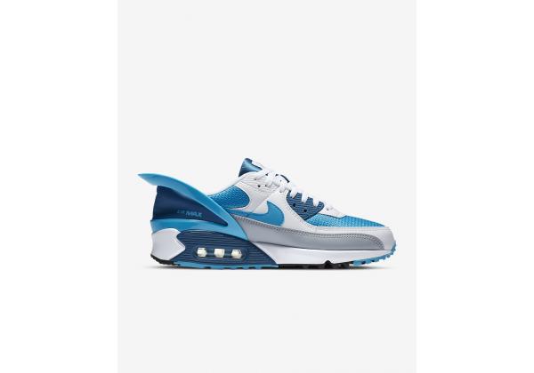 Nike Air Max 90 FlyEase белые с голубым