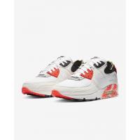 Кроссовки Air Max 90 Premium белые с красным