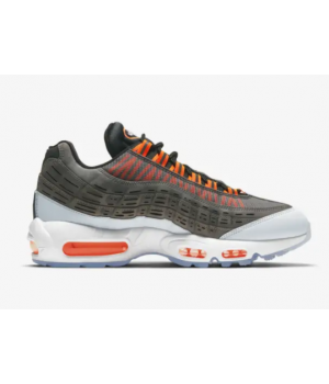 Кроссовки Nike Air Max 95 x Kim Jones черные с оранжевым