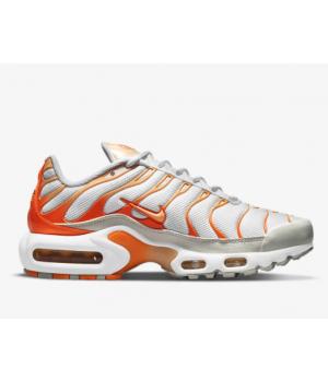 Кроссовки Nike Air Max Plus белые с оранжевым