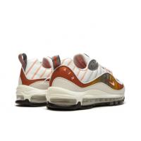 Кроссовки Nike Air Max 98 SE белые с оранжевым