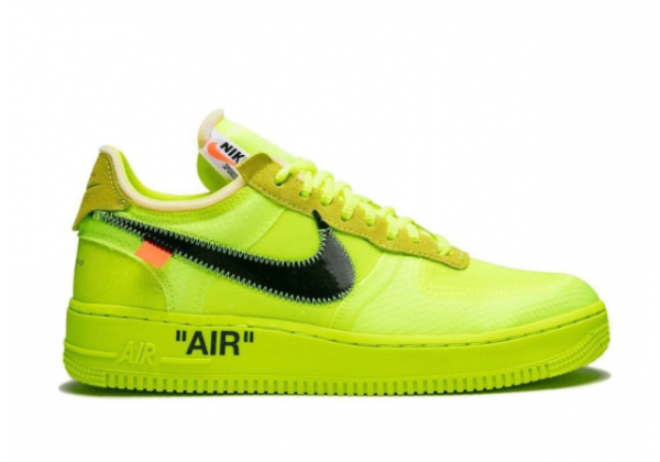 Nike Air Force 1 Low x Off White зеленые