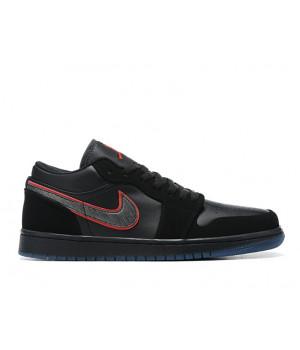 "Nike Air Jordan 1 Low ""Red Orbit"" черные"