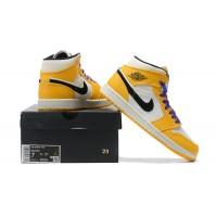 "Nike Air Jordan 1 Mid ""Lakers"" желтые"