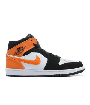 "Nike Air Jordan 1 Mid ""Shattered Backboard"" оранжевые"