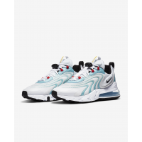 Nike кроссовки Air Max 270 React ENG белые с голубым