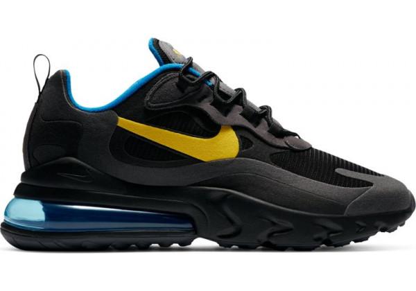 Кроссовки женские Nike Air Max 270 React черные с синим