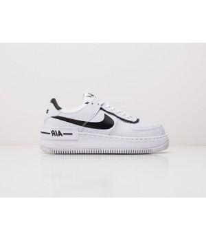 Кроссовки Nike Air Force 1 Shadow белые с черным