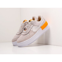Кроссовки Nike Air Force 1 Shadow серые с оранжевым