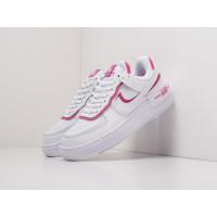 Кроссовки Nike Air Force 1 Shadow белые с розовым