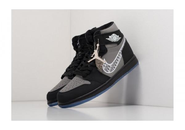 Nike кроссовки Dior X Nike Air Jordan 1 Black
