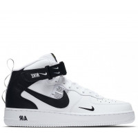 Nike Air Force 1 Mid с мехом White