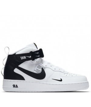 Nike Air Force 1 Mid с мехом White