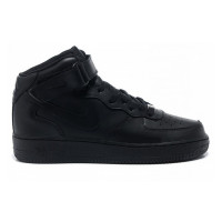 Nike Air Force 1 Mid Black с мехом