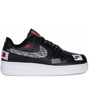 Nike Air Force 1 Low Just Do It Black White