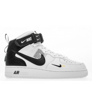Nike Air Force 1 Utility Mid White с мехом