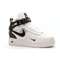 Nike Air Force 1 Utility Mid White с мехом