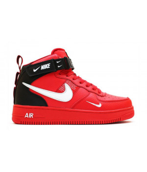 Nike Air Force 1 Utility Mid Red с мехом