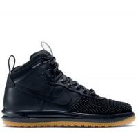 Nike Air Force black с мехом