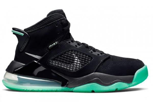 Кроссовки Air Jordan Black Green Glow