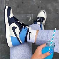 Nike кроссовки Air Jordan 1 Retro черно-синие
