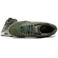 Кроссовки Nike Air Max 90 Leather Carbon Green/Metallic Pewter/Sail