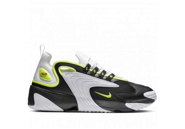 Nike кроссовки Air Zoom черный с салатовым