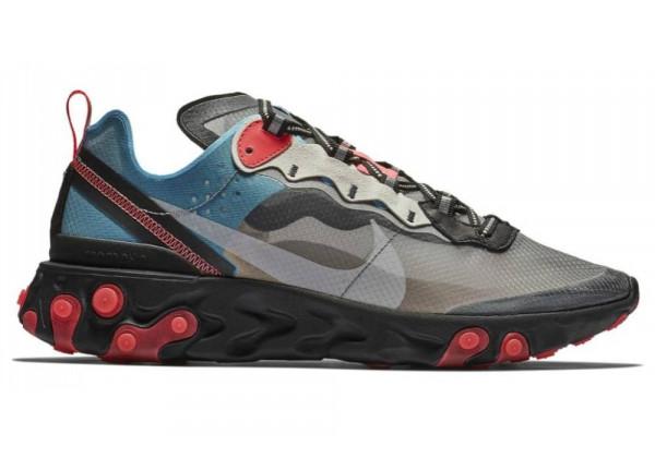Кроссовки Nike React Element 87 Black Cool Grey Blue